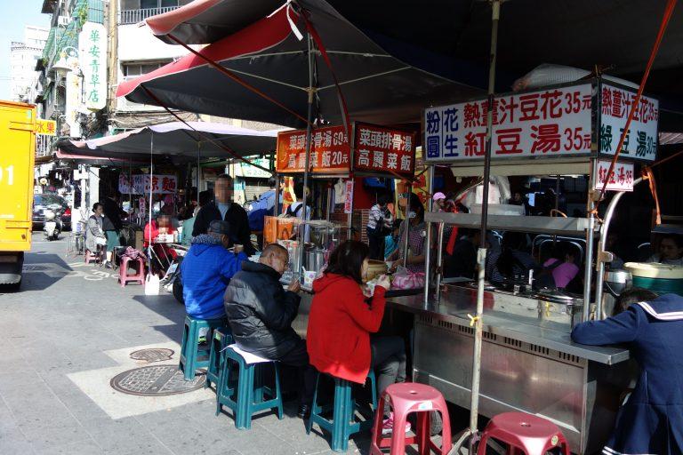 龍山寺付近、西昌街がローカルで楽しい